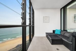 The Balcony and View of Horizon Two Bedroom Apartment B1008.