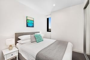 The Second Bedroom of Horizon Two Bedroom Apartment B1008.
