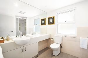 The Ensuite Bathroom of Worth Place Apartment.