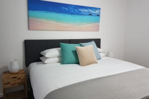 The Main Bedroom of Worth Place Apartment.